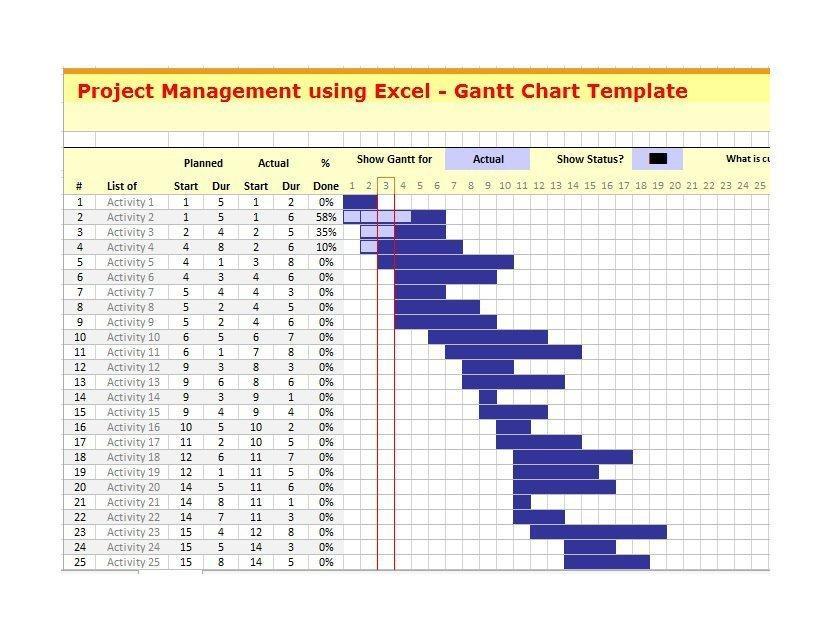 Gantt Chart Template Microsoft Word