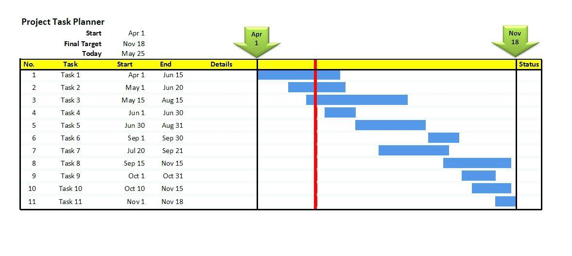 Gantt Chart Template Word 2010