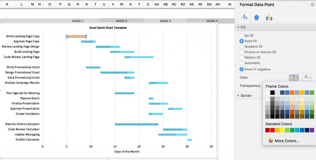 Gantt Chart Templates For Excel 2010