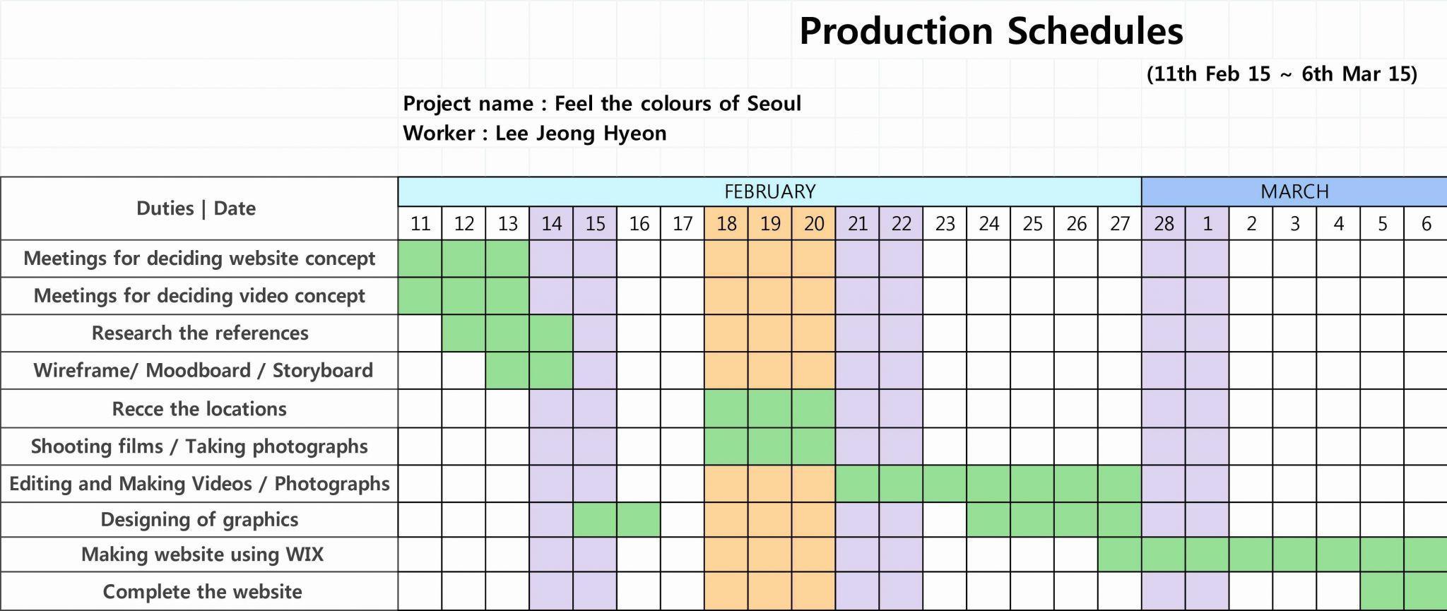 Gantt Construction Schedule Template