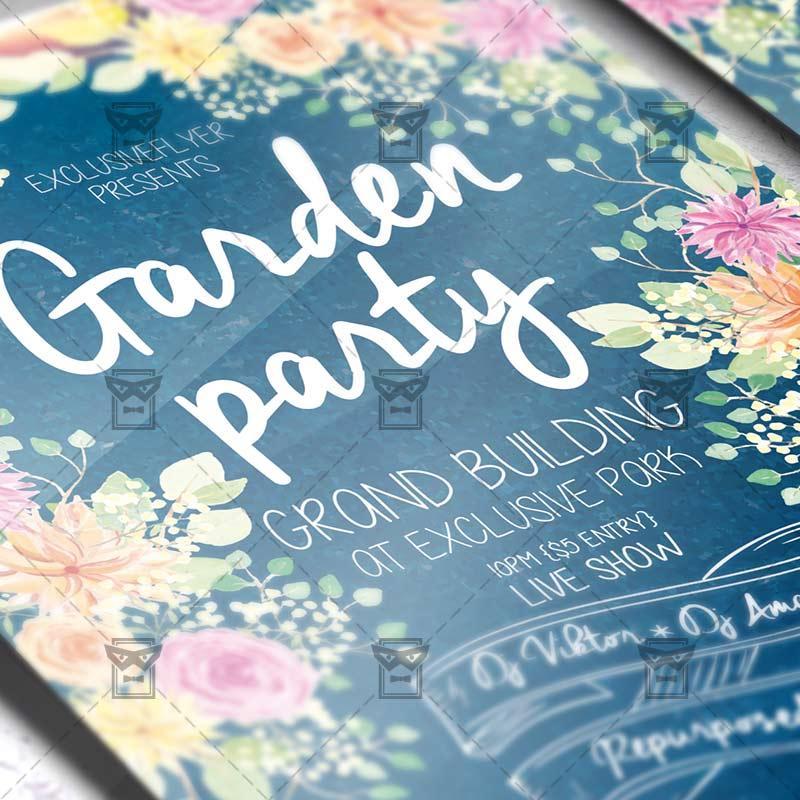 Garden Party Flyer Templates Free