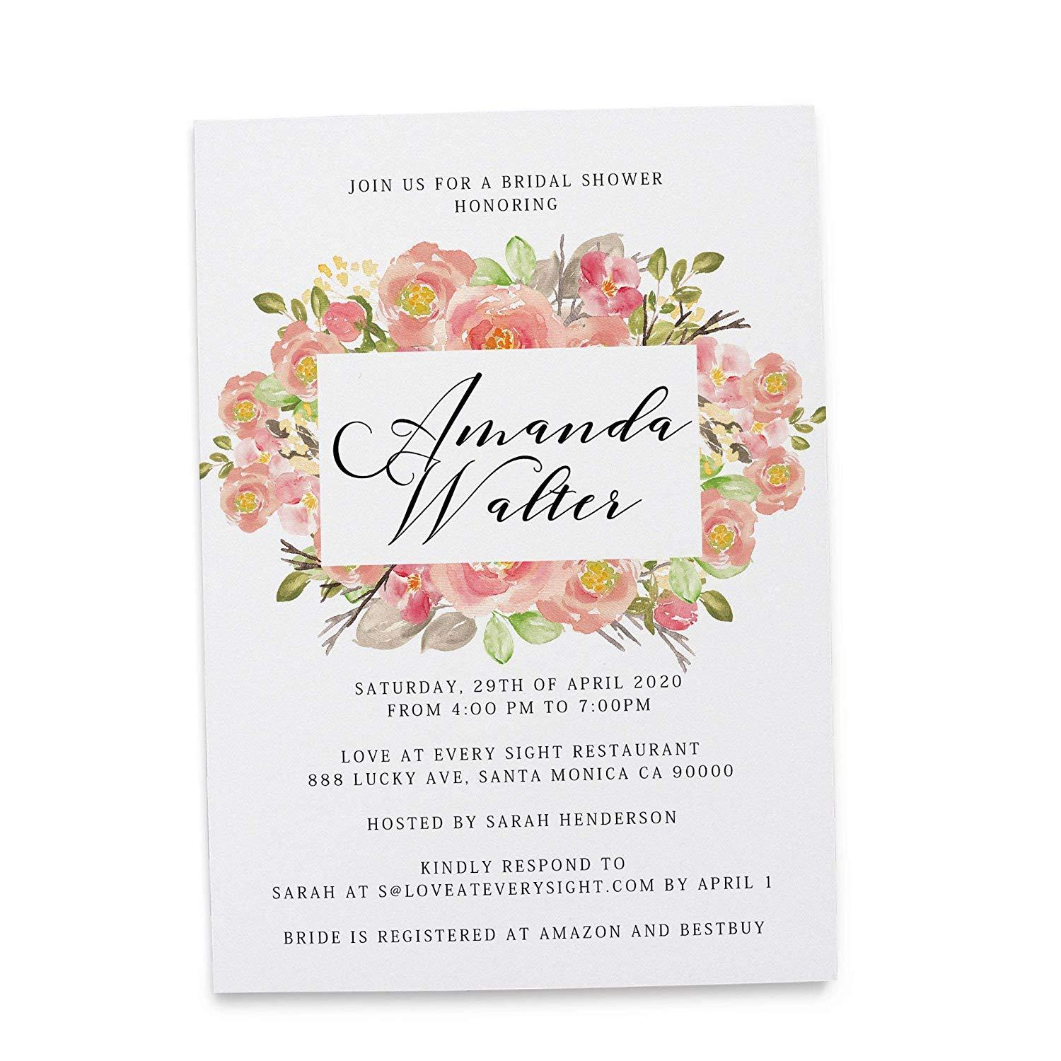 Garden Party Invitation Cards