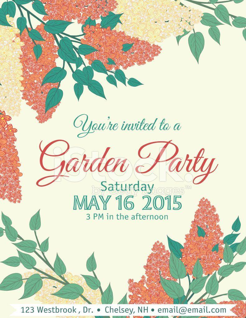 Garden Party Invitation Template Free