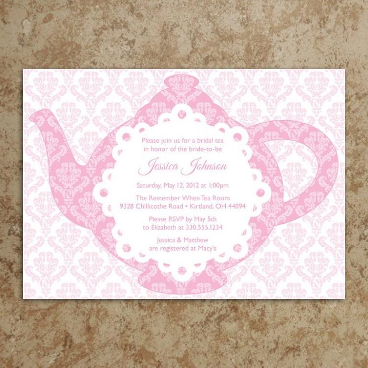 Garden Tea Party Invitation Templates