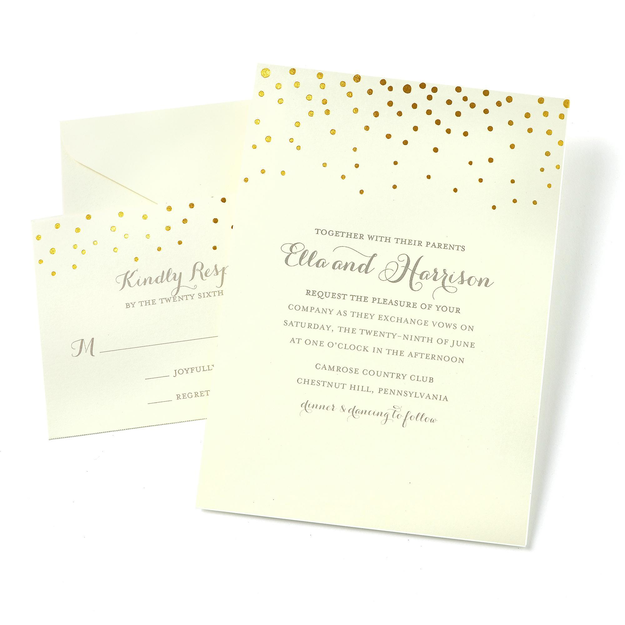 Gartner Studios Glitter Invitations Templates