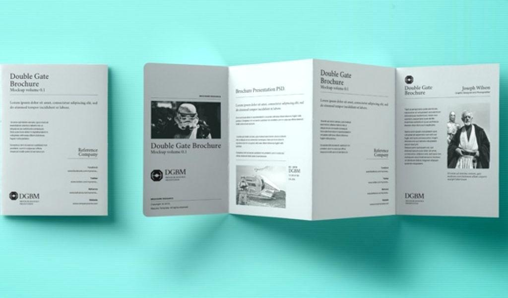Gate Fold Brochure Template Photoshop