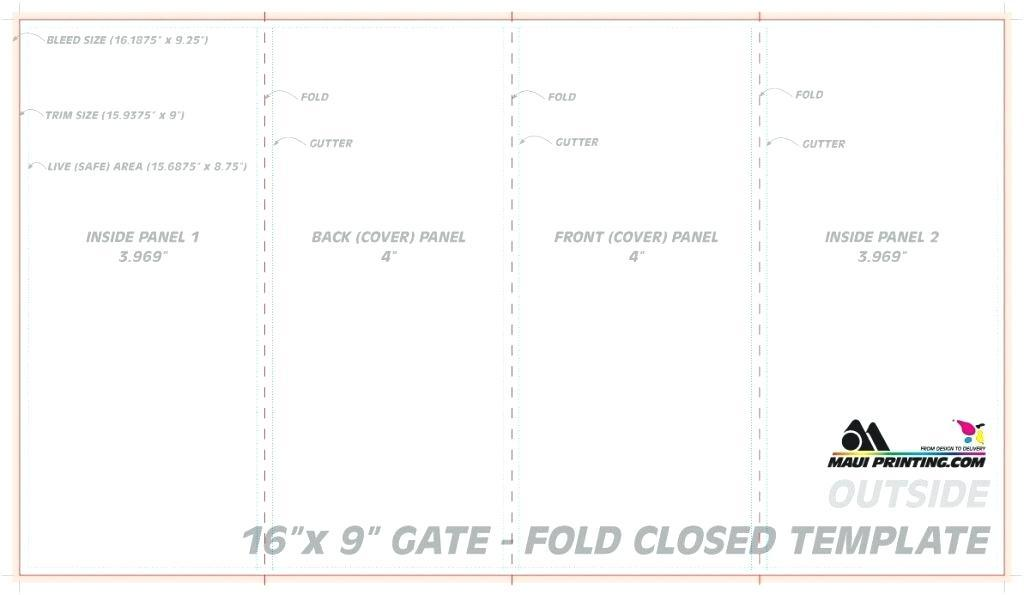 Gate Fold Brochure Template Word
