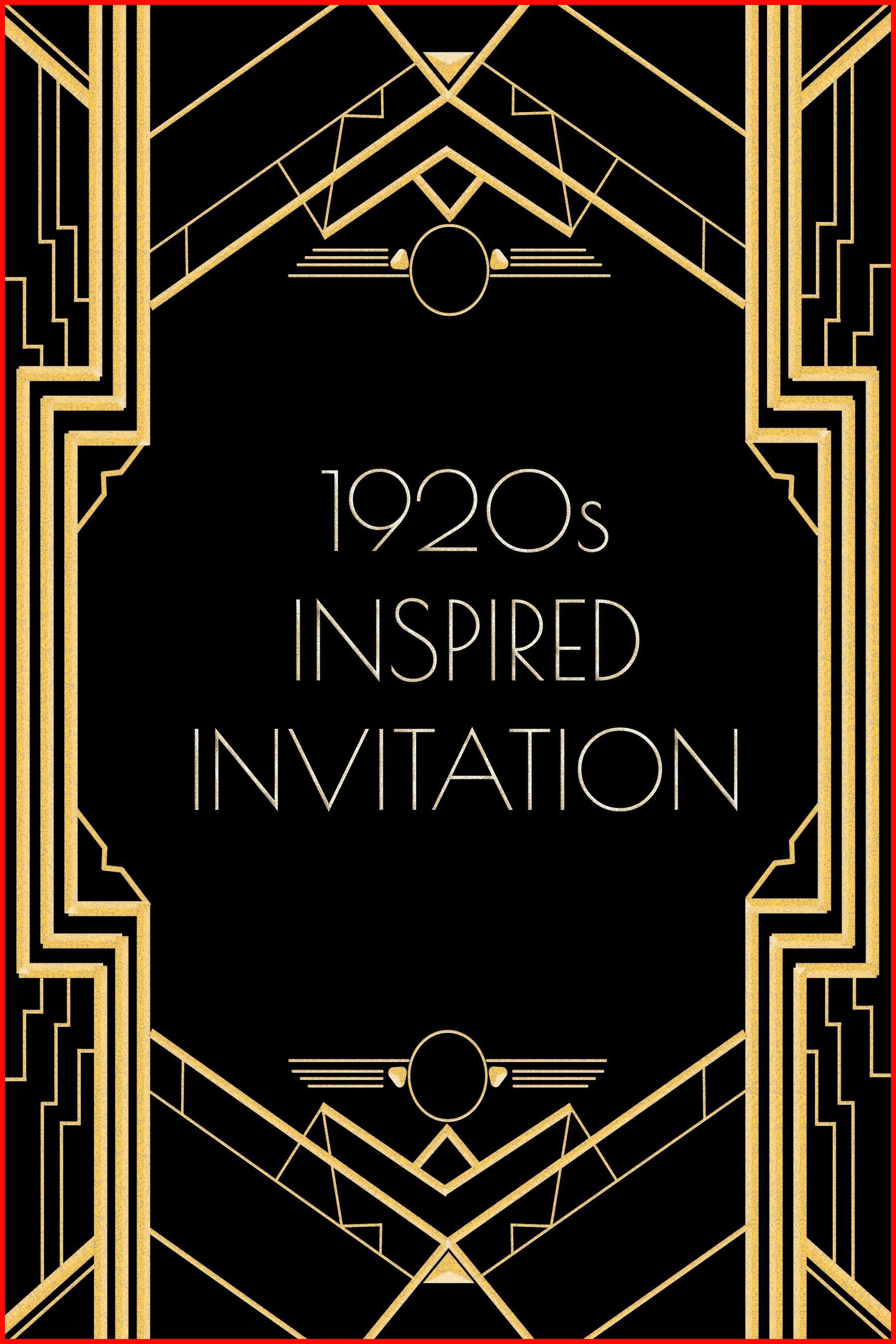 Gatsby Invitation Template Free Download