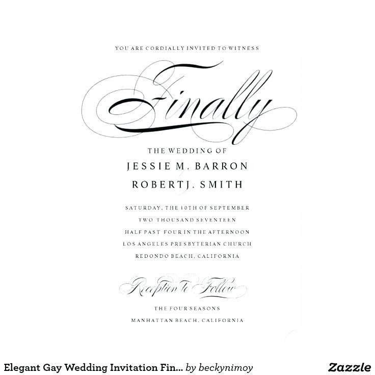 Gay Wedding Invitation Templates Free