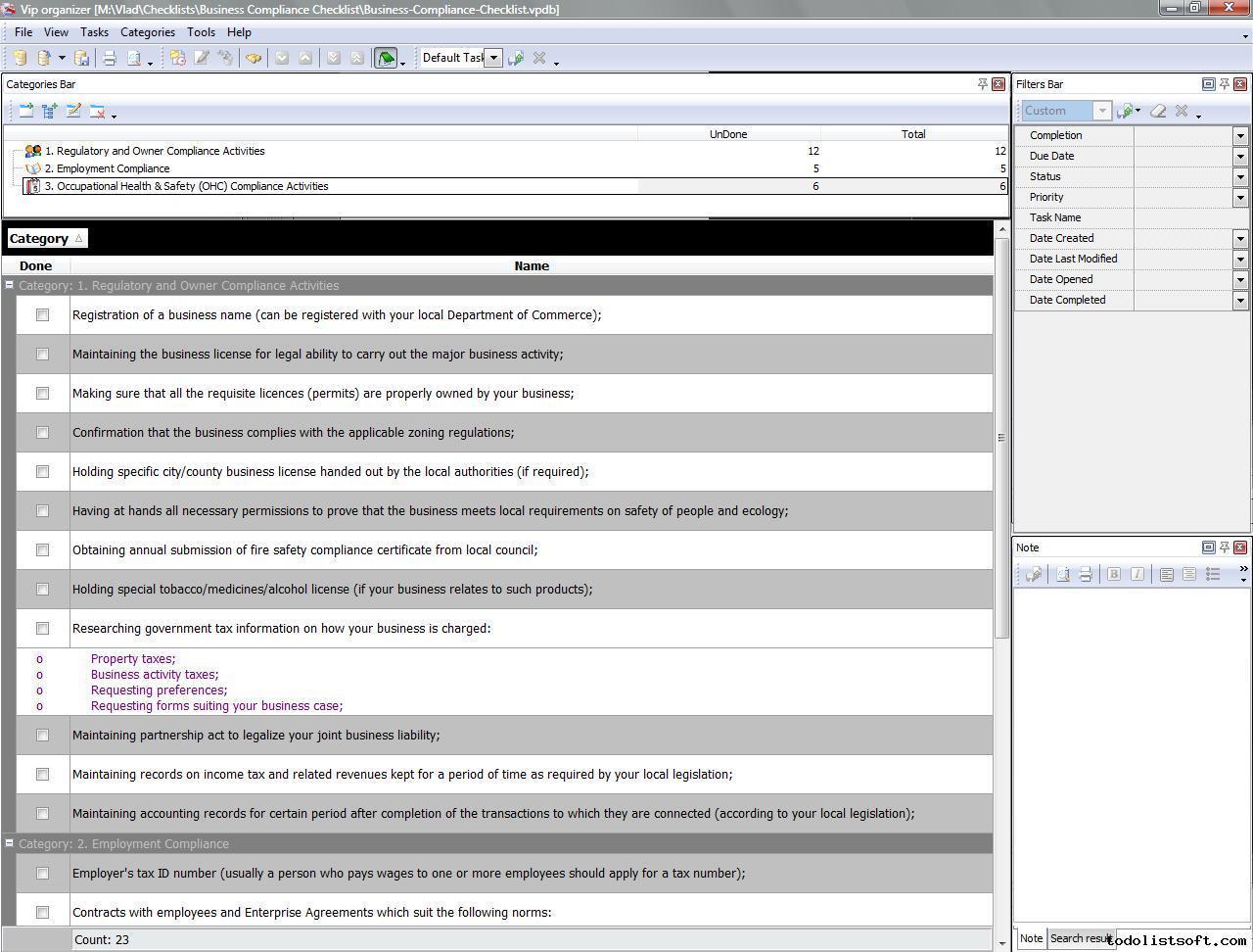 Gdpr Compliance Checklist Template