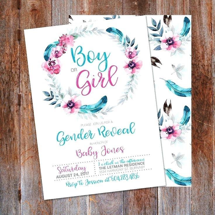 Gender Reveal Baby Shower Templates