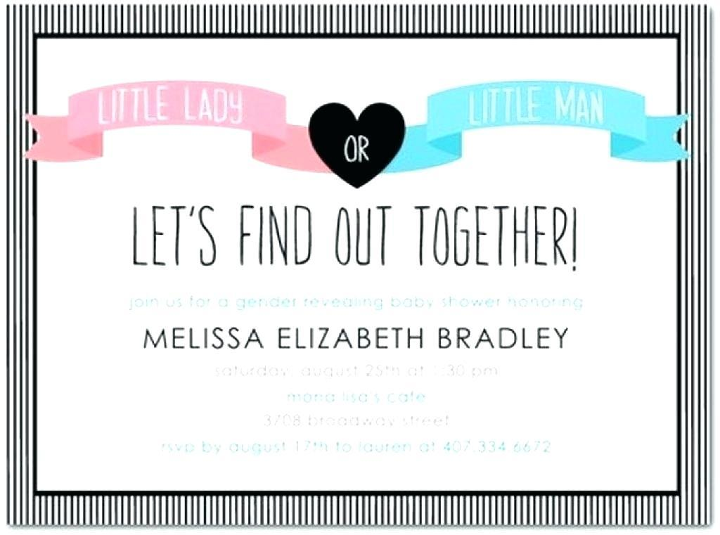 Gender Reveal Invitations Templates