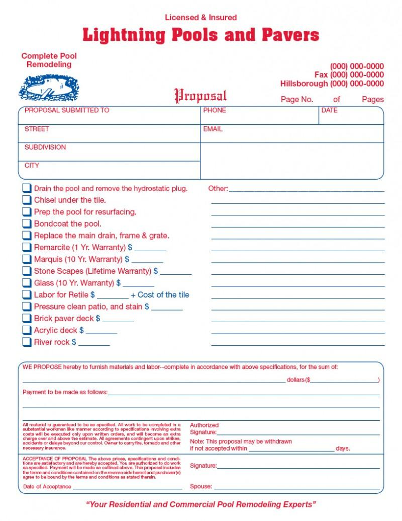 General Contractor Invoice Form