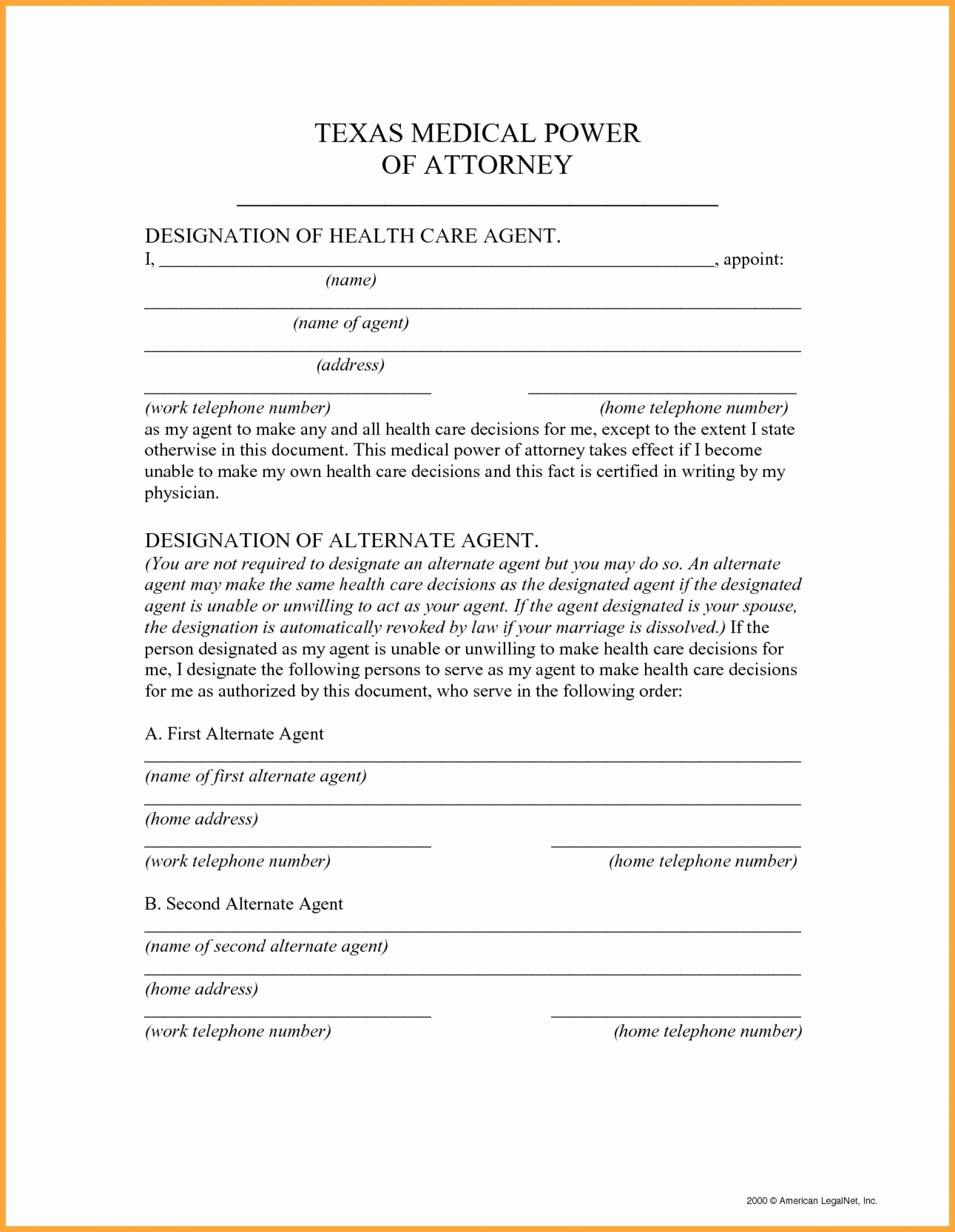 General Financial Power Of Attorney Template
