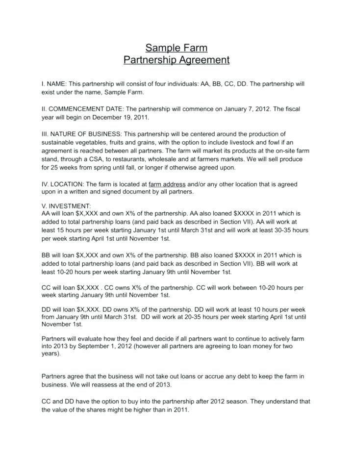 General Partnership Agreement Template California