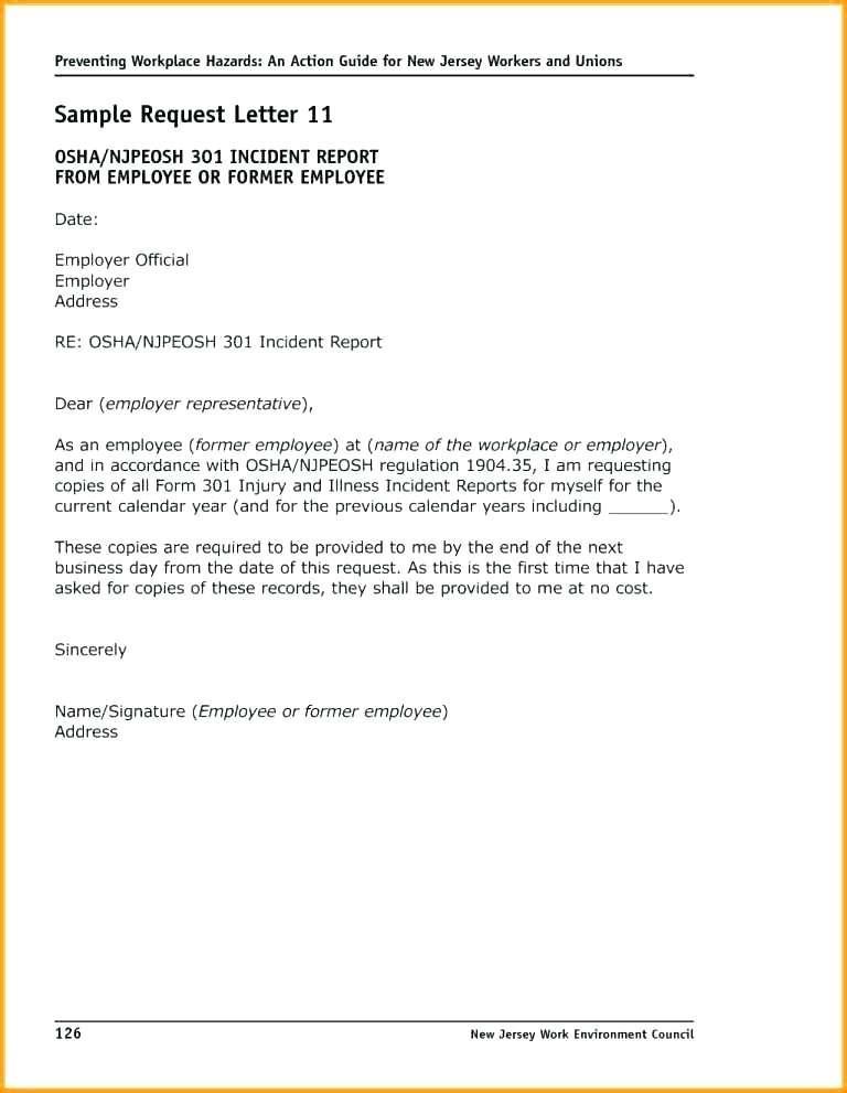 Generic Incident Report Form