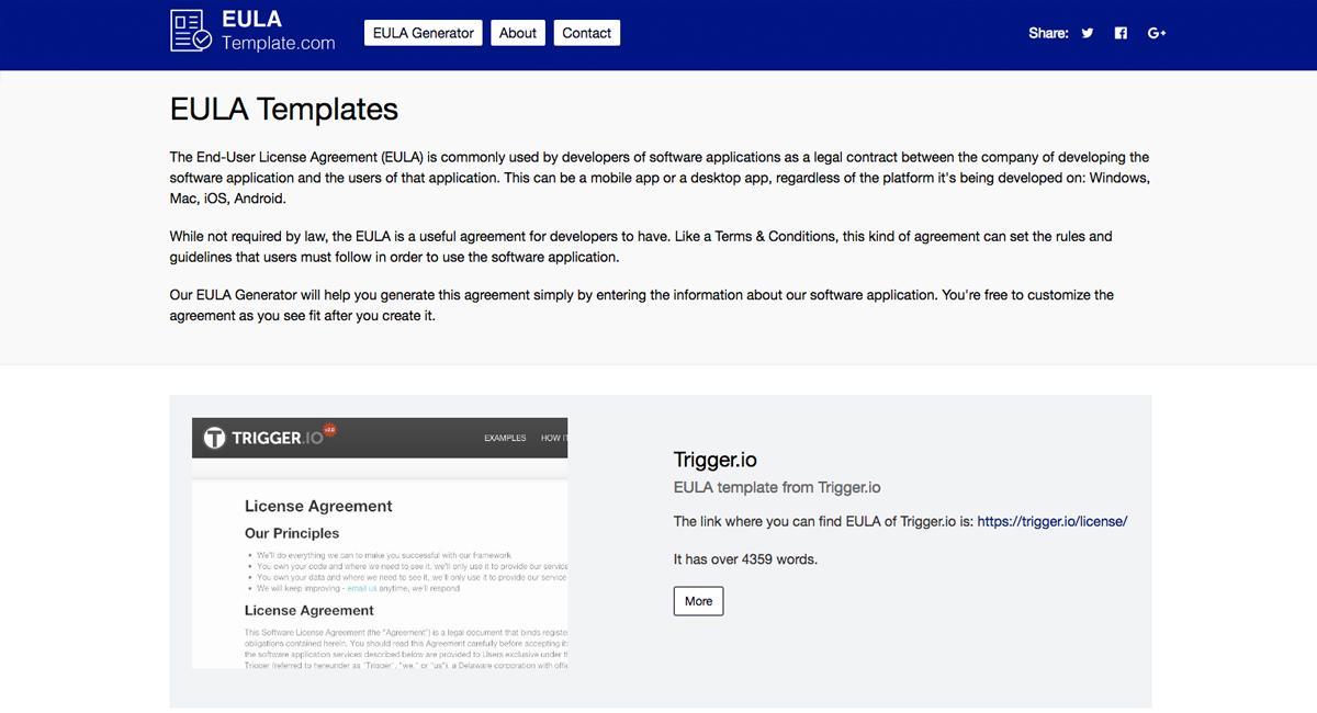 Generic Software Eula Template