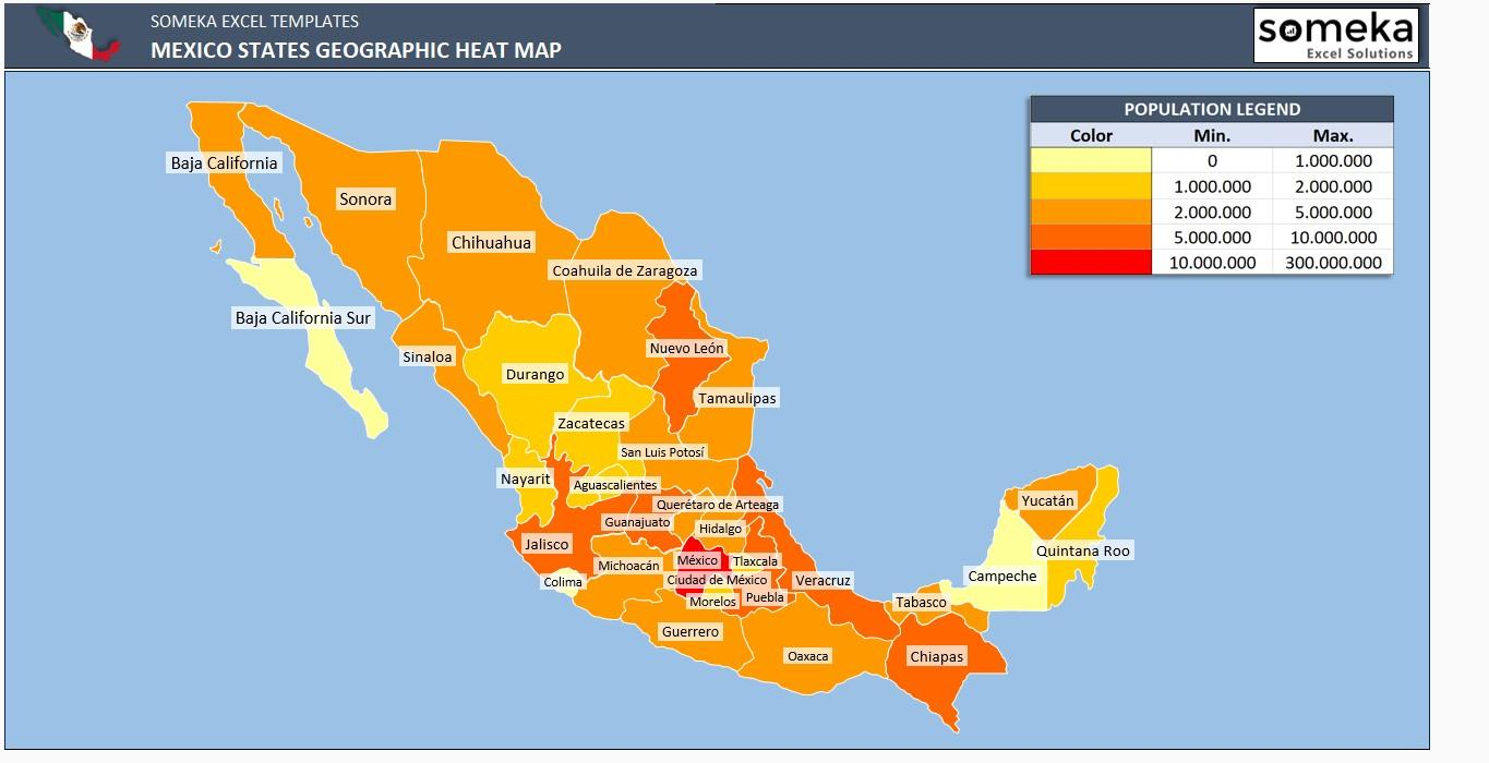 Geographic Heat Map Excel Template