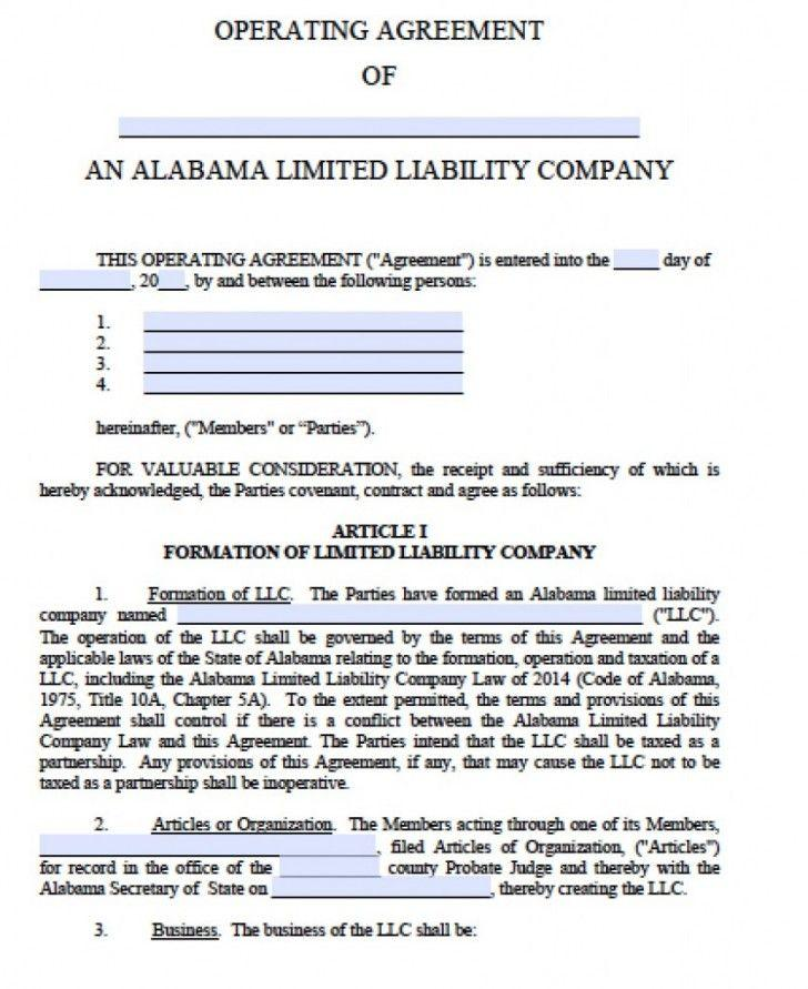 Georgia Llc Articles Of Organization Template
