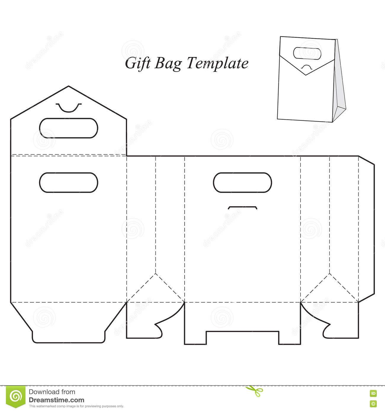 Gift Box With Lid Template