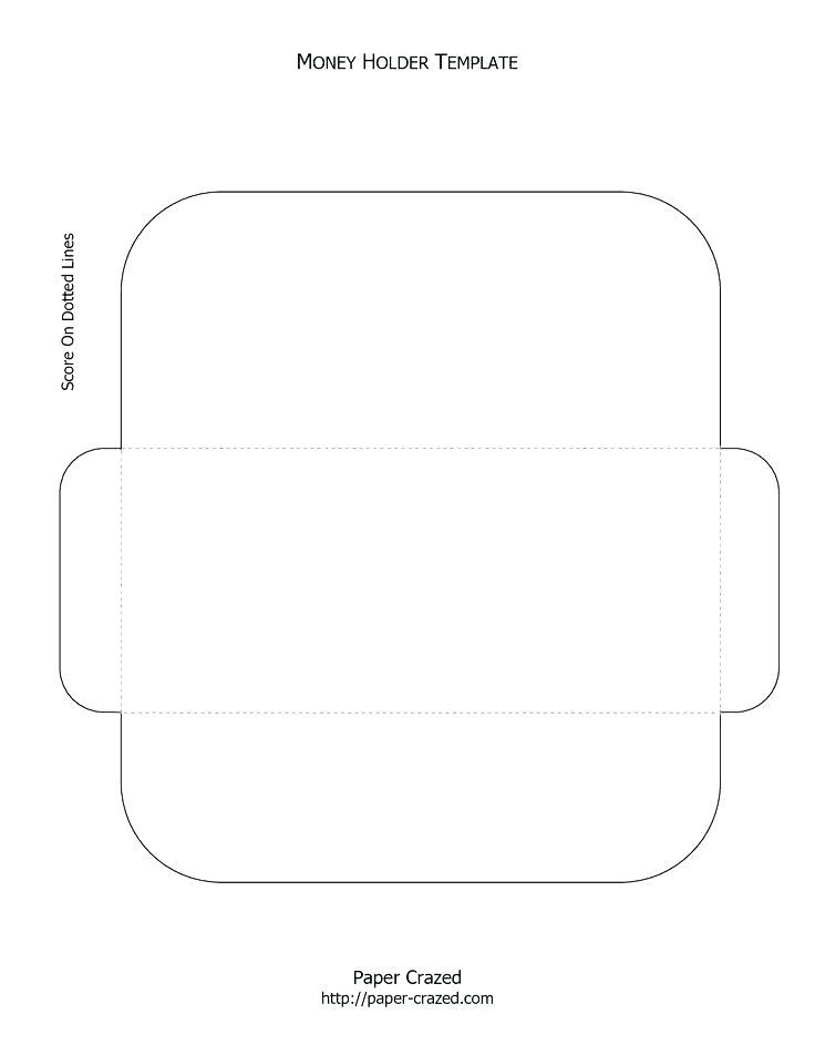 Gift Card Envelope Template Svg