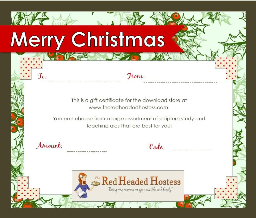 Gift Certificates Templates Free For Word