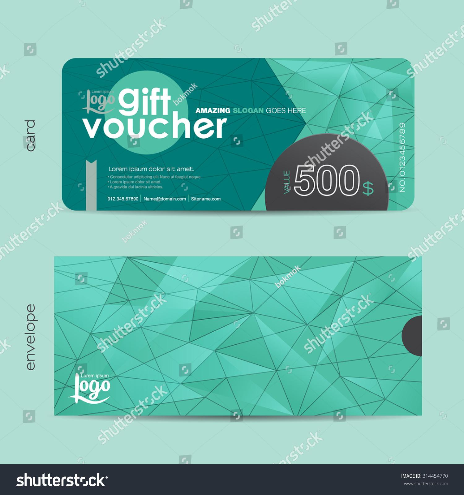 Gift Voucher Envelope Template