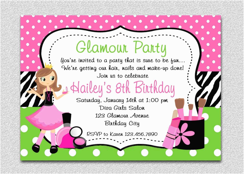 Girl Birthday Party Invitation Templates Free