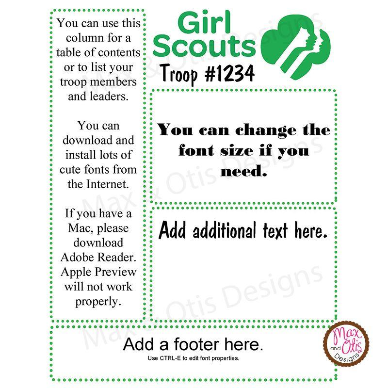 Girl Scout Troop Newsletter Template