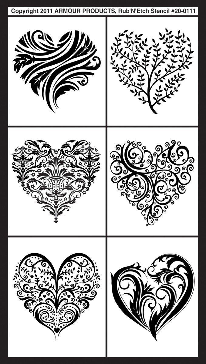 Glass Etching Patterns