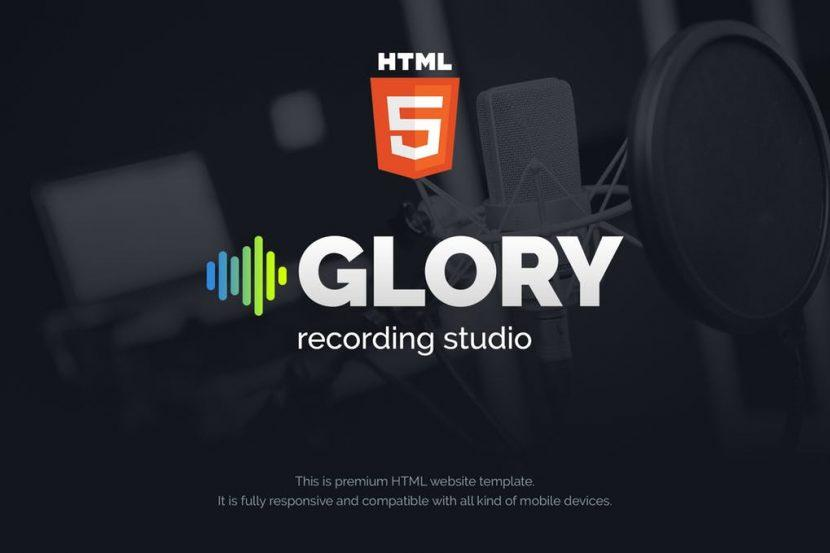 Glory Recording Sound Studio Html Website Template