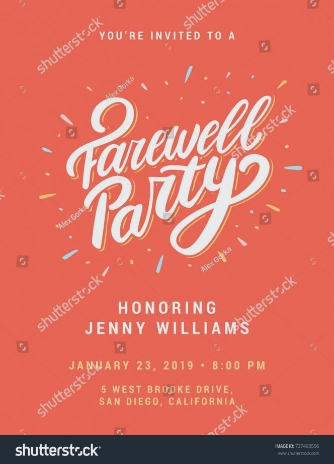 Going Away Invite Email Template