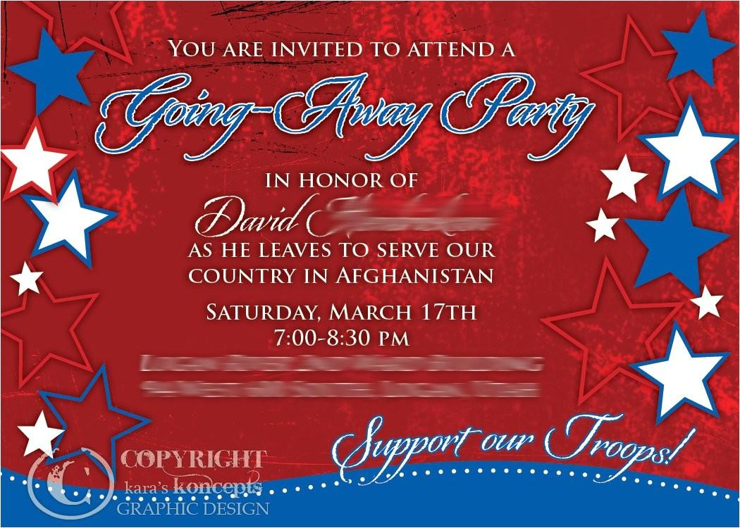 Going Away Party Invitation Samples