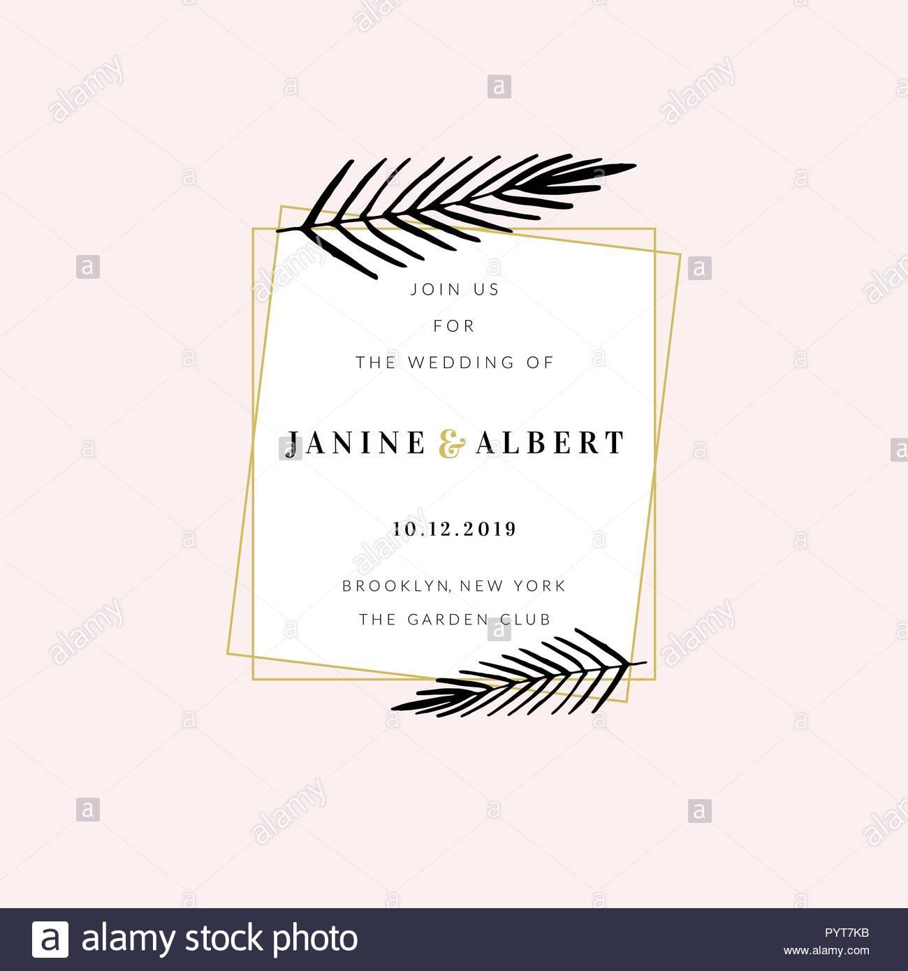 Golden Wedding Invitation Sample