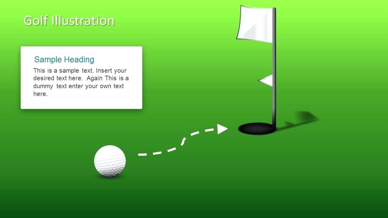 Golf Ball Invitation Template