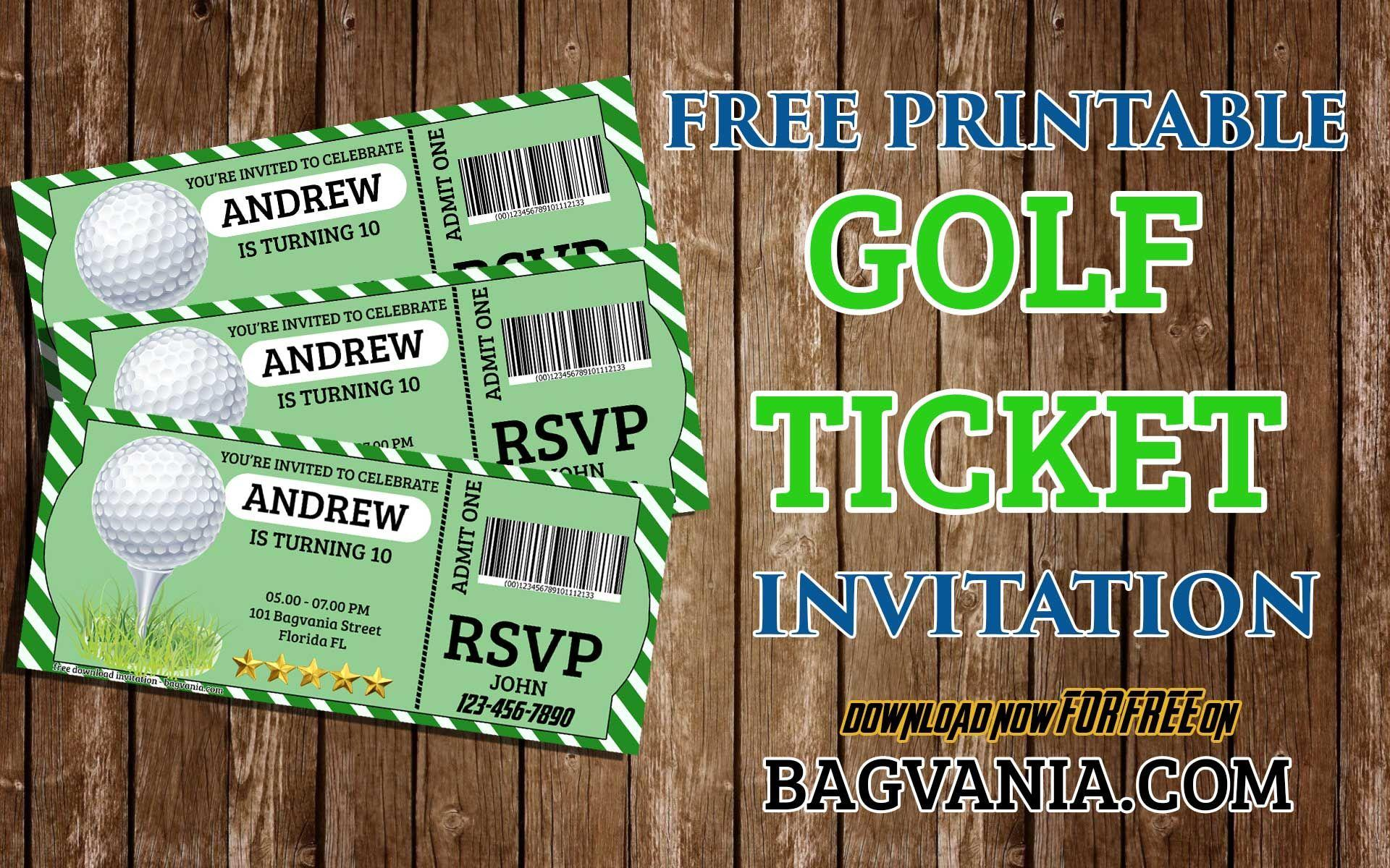 Golf Birthday Invitation Template Free