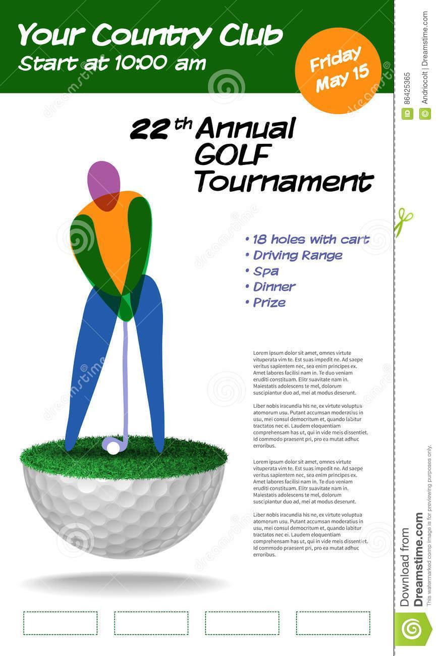 Golf Club Brochure Template