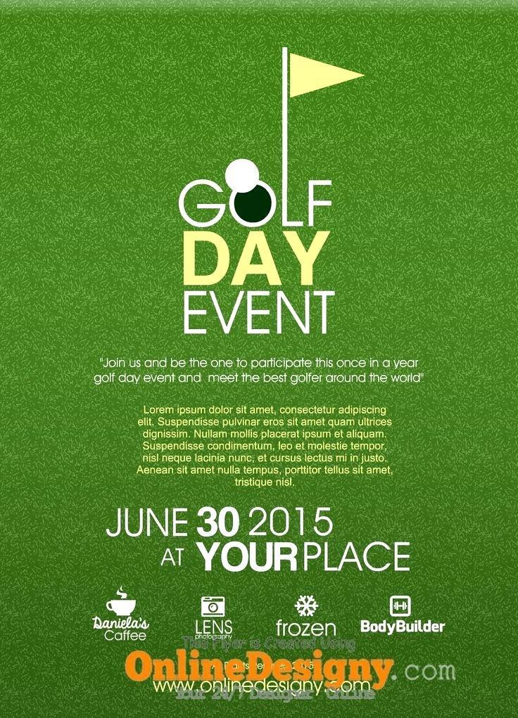 Golf Day Invitation Template Free