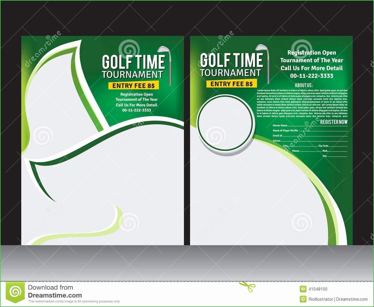 Golf Tournament Email Invitation Template