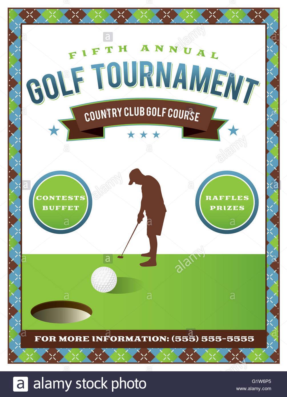 Golf Tournament Invitation Template