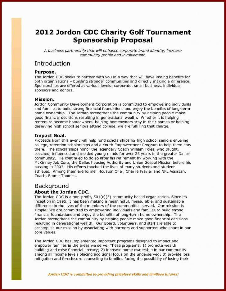 Golf Tournament Proposal Template