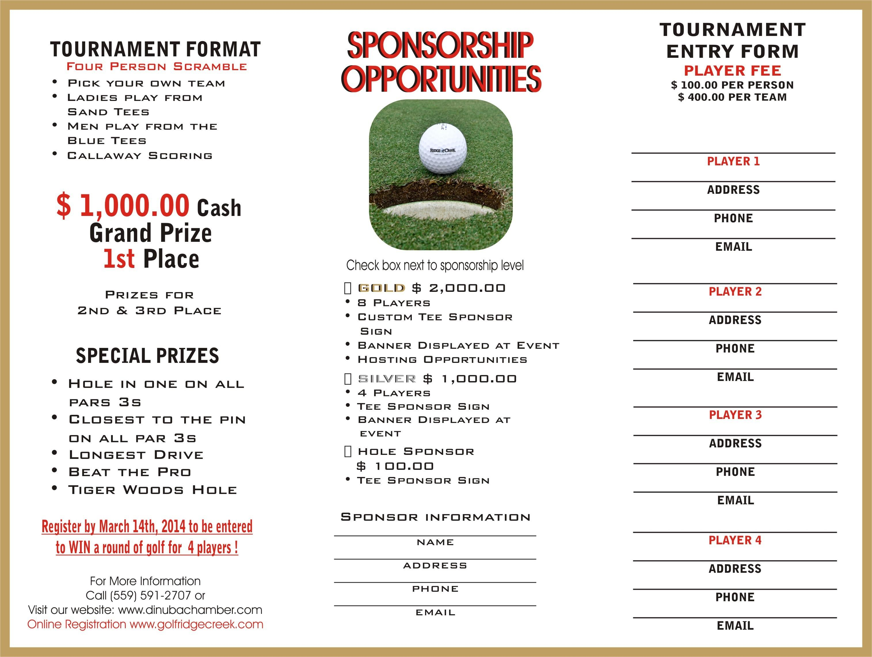 Golf Tournament Sponsorship Letter Template
