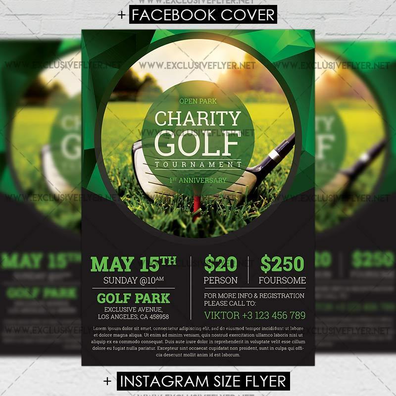 Golf Tri Fold Brochure Template