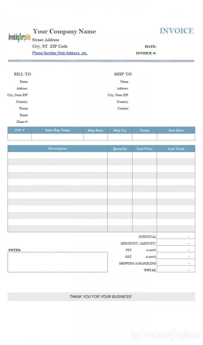 Google Invoice Template Cool