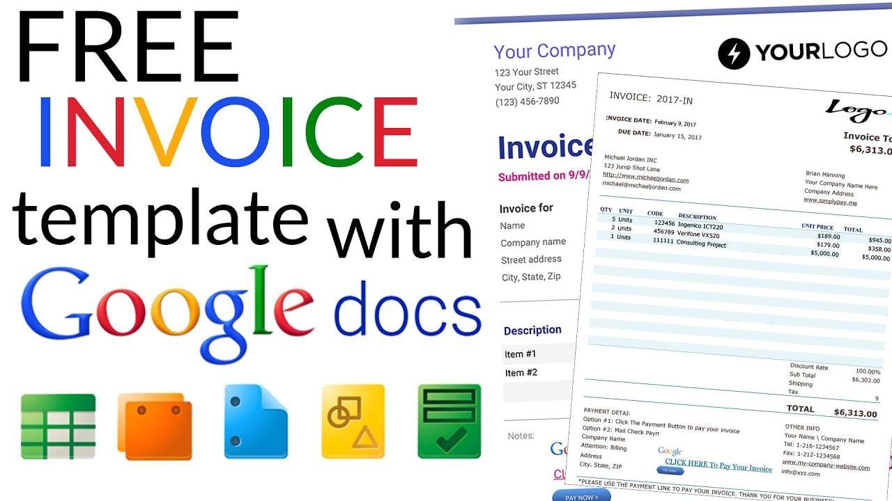 Google Invoice Template Free