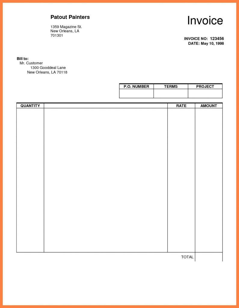 Google Invoice Template Uk
