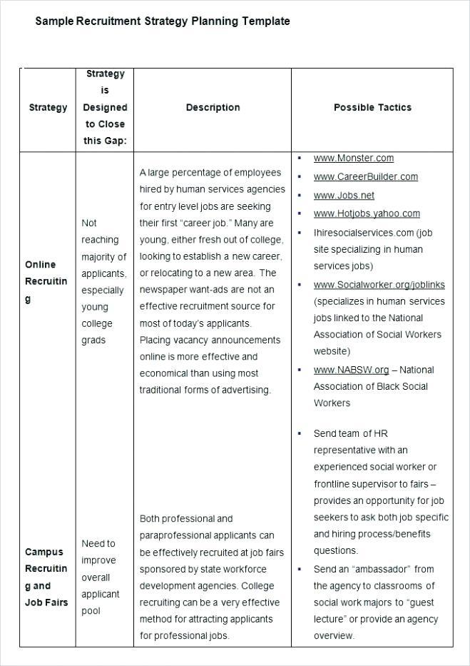 Graduate Student Recruitment Plan Template