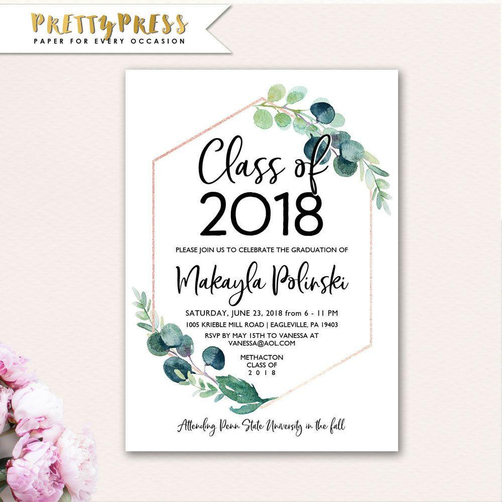 Graduation Announcement Template Free 2018