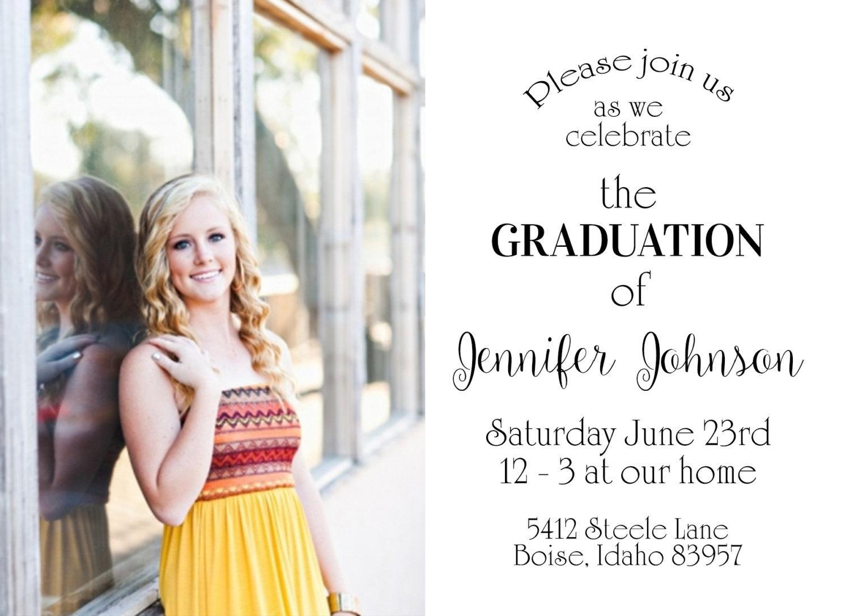 Graduation Announcement Template Photoshop Free