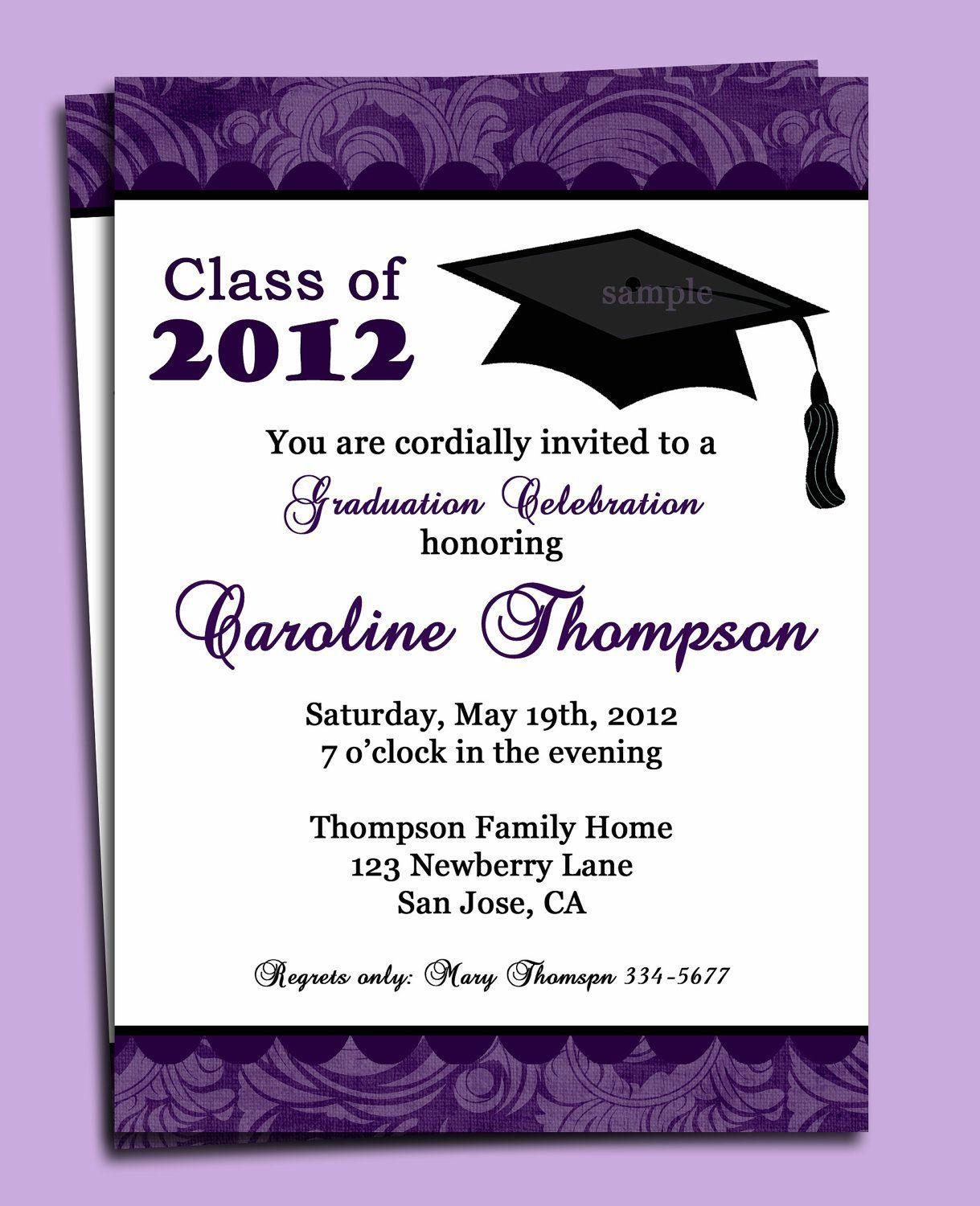 Graduation Announcements Template